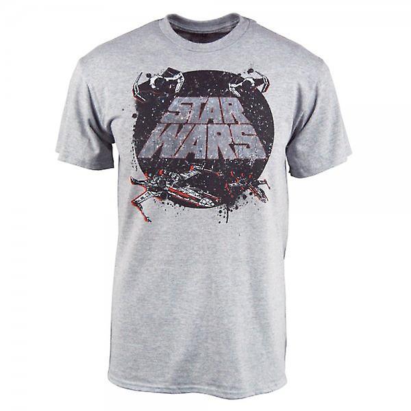 Star Wars Mens Star Wars Tradition T Shirt Heather Grey