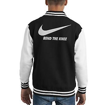सिंहासन का खेल नाइके Swoosh घुटने मोड़ बच्चे 's विश्वविद्यालय जैकेट