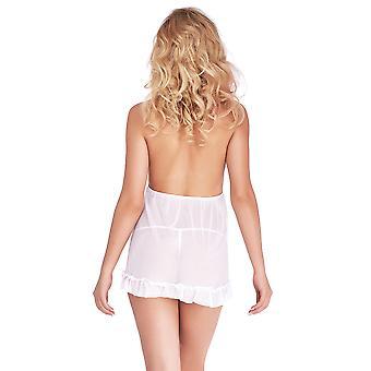 String et nuisette Sexy dentelle blanche Jasmin Mio mis B2721A