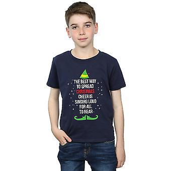 Elf Boys Christmas Cheer texte T-Shirt
