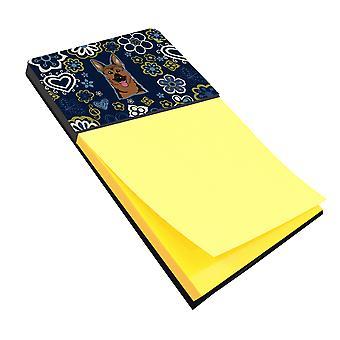 كارولين BB5062SN كنوز الزهور الزرقاء الراعي الألماني Sticky Note حامل
