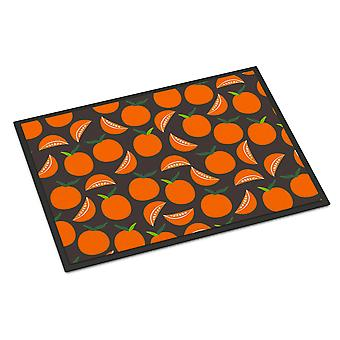 Carolines Treasures  BB5142JMAT Oranges on Gray Indoor or Outdoor Mat 24x36