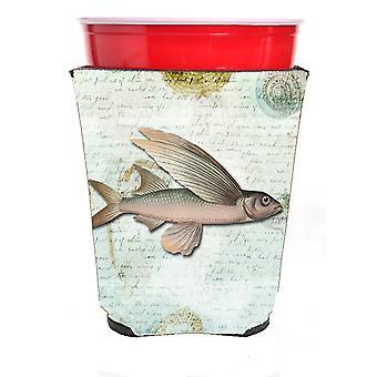 Carolines Treasures  SB3042RSC Fish  Red Solo Cup Beverage Insulator Hugger