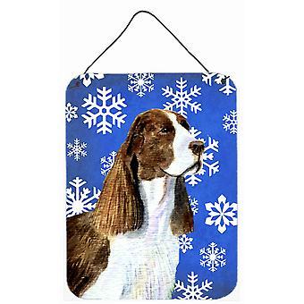 Springer Spaniel inverno dei fiocchi di neve vacanze parete o porta appeso stampe