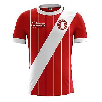 2017-2018 Peru weg Concept voetbalshirt