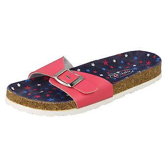 Girls Junior Spot On Mule Sandals H0133