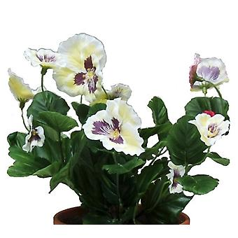Artificial Silk Pansy Bush