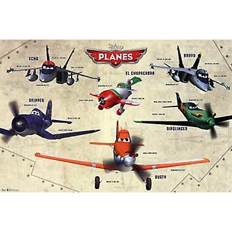 Disney Planes - Group Poster Print