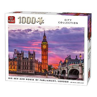 King Big Ben Clock And Parliament House London Jigsaw Puzzle (1000 Pieces)