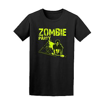 Zombie Party Poster Biohazard Sign Tee - Image by Shutterstock