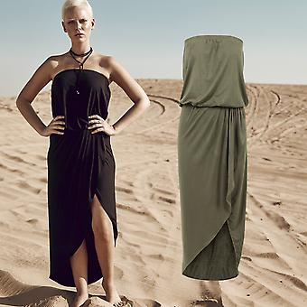 Urban classics ladies - viscose bandeau summer stretch dress