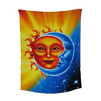 Himmelsk solen og månen bomull Beach Blanket håndkle 54 X 68 i.