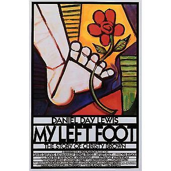 Min venstre fod film plakat (11 x 17)