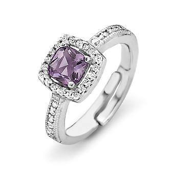 Orphelia Silver 925 Ring prinses zirkonium Lavendel ZR-7199/LA