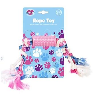 Puppy Rope Tug Toy Pink