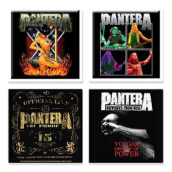Pantera 4 x Fridge Magnet 101 proof logo various designs new official Gift set