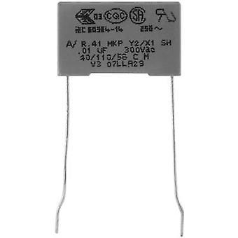Kemet R413F11000000M+ 1 pc(s) MKP suppression capacitor Radial lead 1 nF 300 V 20 % 10 mm (L x W x H) 13 x 4 x 9