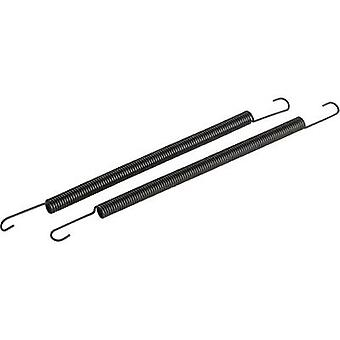 1:8 manifold springs (long) Black Reely Compatible with: 3.46-6.23cc nitro engines 1 pair
