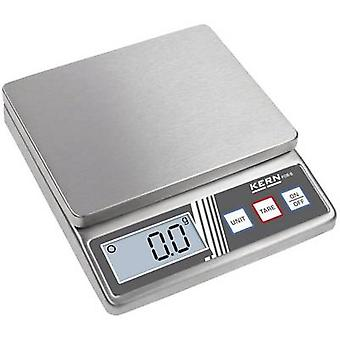 Kern FOB 500-1S Letter scales Weight range 0.5 kg Readability 0.1 g battery-powered Silver