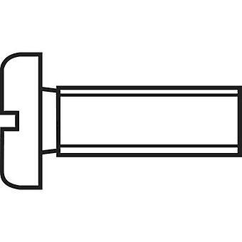 TOOLCRAFT 815748 Inbusschrauben M3 25 mm Schlitz DIN 84 Stahl Zink vernickelt 100 PC