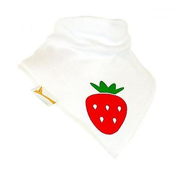 Vita & röd jordgubbe bandana bib