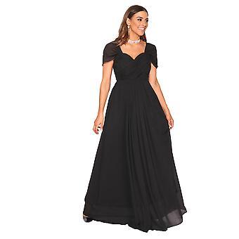 KRISP damer chiffon blonder brude brudepige sommer bryllup lang maxi kjole Gown 8-20