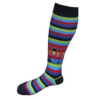 The Beatles Love Me do Stripes Official Womens Knee High Socks (UK Size 4-7)