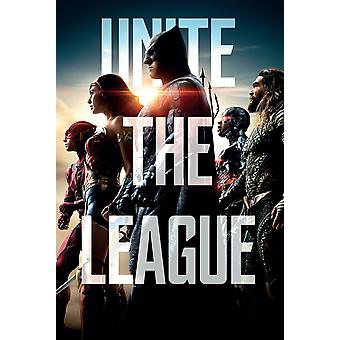 Retfærdighed Leauge plakat forene League (teaser) Batman, wonder woman, Aquaman, Flash, cyborg.