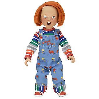 Child's play actionfigur Chuck (påklædt) 5,5 - plast, med tøj lavet af stof, af NECA.