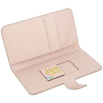 Muvit Flip wallet cover, card holder case for Smartphone size XL - Rosegold
