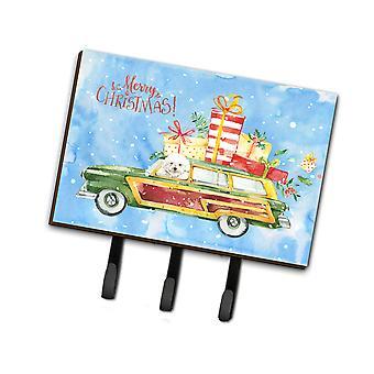 Carolines Treasures  CK2395TH68 Merry Christmas Bichon Fris� Leash or Key Holder