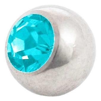 Piercing udskiftning bold, krop smykker, sten Aquamarine | 1,6 x 4, 5 og 6 mm