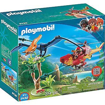 PLAYMOBIL 9430 helikopter z pterozaura zabawka zestaw
