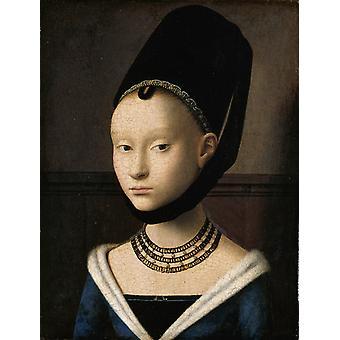 Portret van een dame, Petrus Christus, 28x21cm