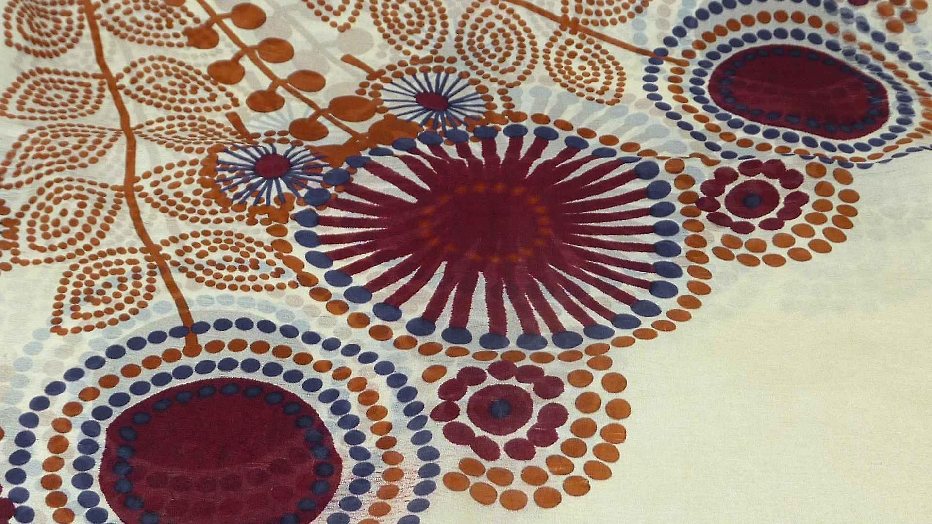 Mulberry Silk Contemporary Square Scarf Geometric G125 by Pashmina & Silk