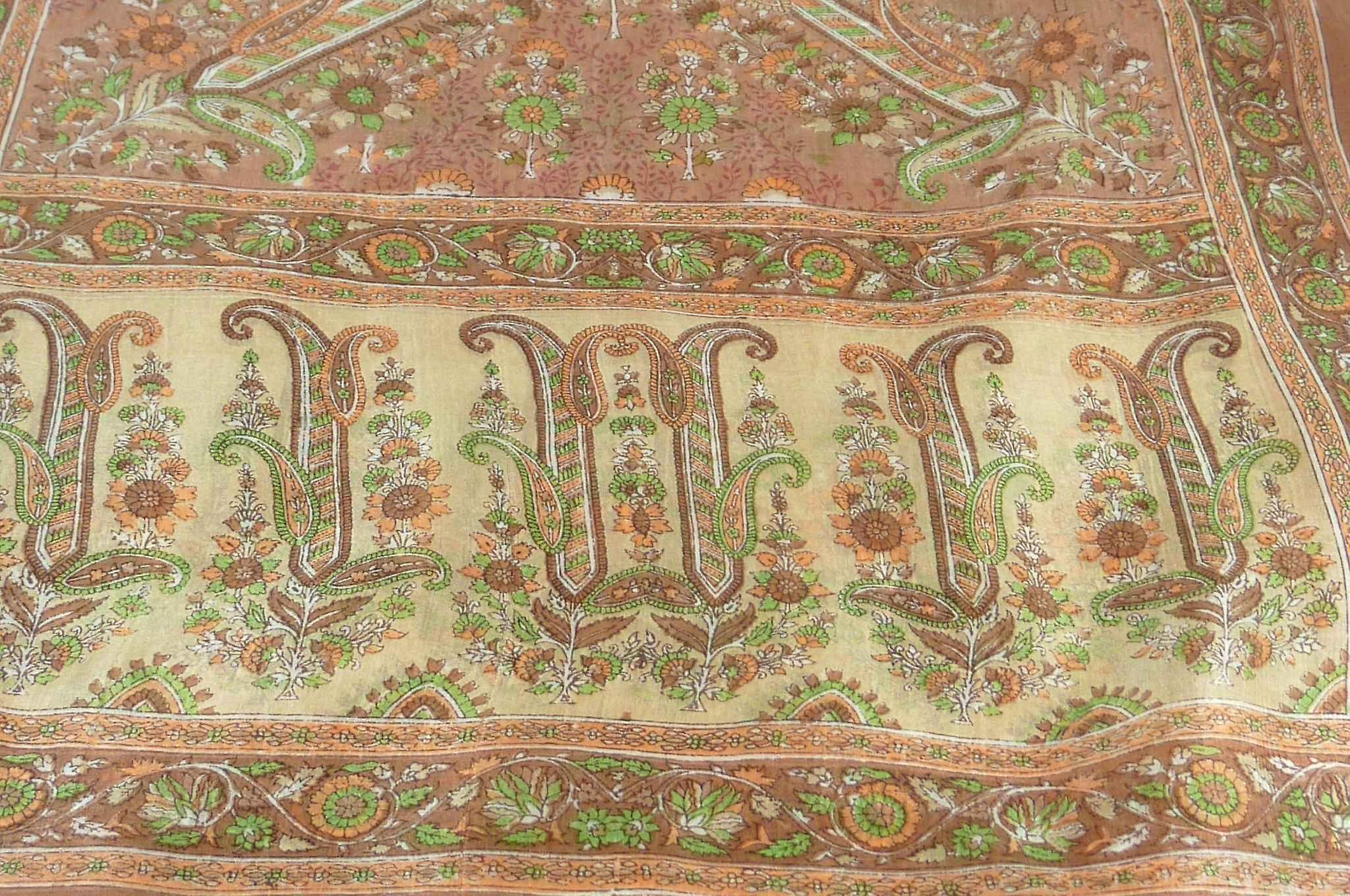 Mulberry Silk Traditional Long Scarf Ringhat Caramel by Pashmina & Silk