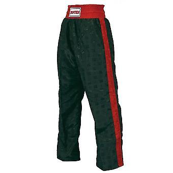 Top ti voksen klassiske Kickboxing bukser sort/rød