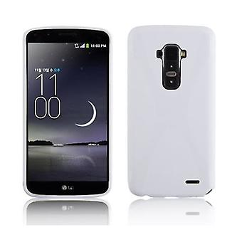 Cadorabo fodral för LG G FLEX fallskydd - Mobil TPU Silikon telefonfodral - Silikon fall skyddande fodral Ultra Slim Soft Back Cover Case Bumper