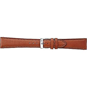 Morellato black leather strap 20 mm A01X3495006041CR14 LIGABUE golden brown man