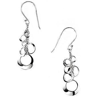 Beginnings Open Multi Disc Cluster Earrings - Silver