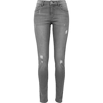 Urban Classics kvinnors jeans Ripped denim