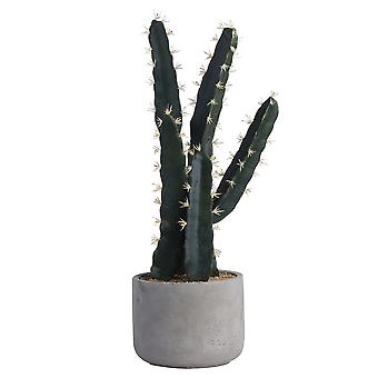 Hill Interiors Large Artificial Concrete Potted Cactus