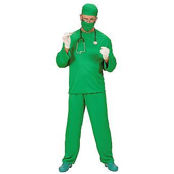 Chirurgen Kostüm (Mantel Hose Cap Gesichtsmaske)