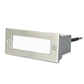 Forlight - escalera acero inoxidable LED Rectangular exterior pared empotrable luminaria PX-0122-INO
