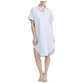 British Boxers Porthtowan Seersucker Nightshirt - Light Blue