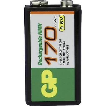 GP Batteries 6LR61 9 V / PP3 battery (rechargeable) NiMH 170 mAh 9.6 V 1 pc(s)