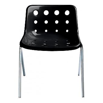 Loft Robin Day 4 Leg Black Plastic Polo Chair