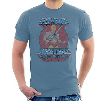 Masters Of The Universe Distressed He Man Power Sword Pose Men's T-Shirt