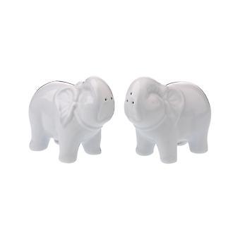 BIA Elephant forma portelan sare & piper Shaker ghivece, alb