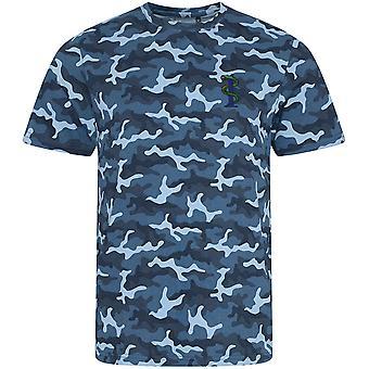 RAMC Royal Army Medical Corps 1st Medical Regiment - T-Shirt à imprimé camouflage brodé de l'armée britannique sous licence